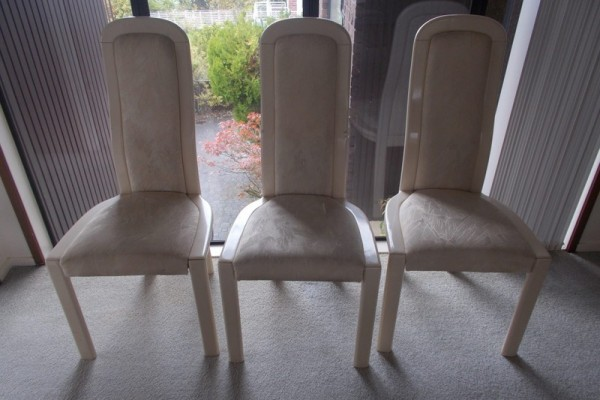Marble solid dining table and 6 chairs