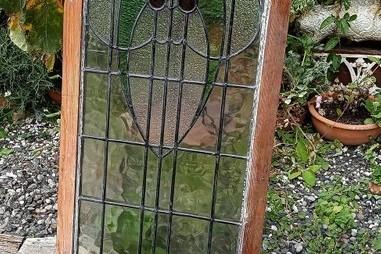 Antique leadlight window