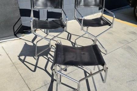 Mid Century directors chairs & stool