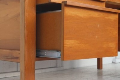 $1 reserve Mid Century rimu desk