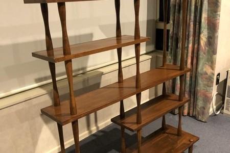 Mid century wooden shelving unit