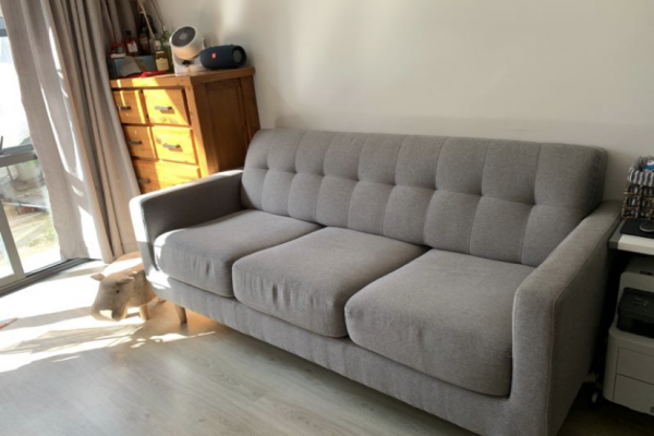 3 seater fold out sofa bed, Rug