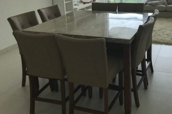 Marble dining table 8-seater - Imported from Dubai