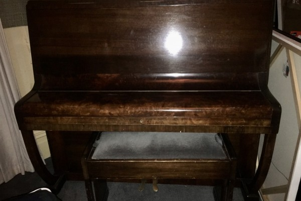 Family piano. Old, but in good condition.