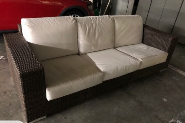 Outdoor rattan couch