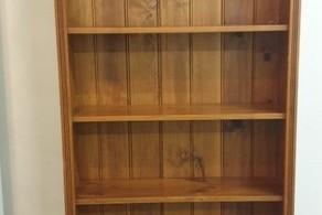 Pine wooden bookshelf
