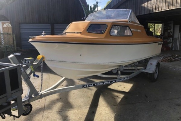 Motor boat 4.9 Haines on Trailer
