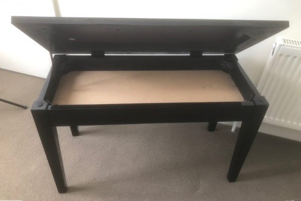 Black Double seating Piano Stool