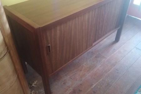 ## vintage mid century wooden sideboard ##