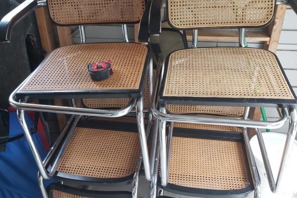 Breuer Cesca Cane Chairs x6
