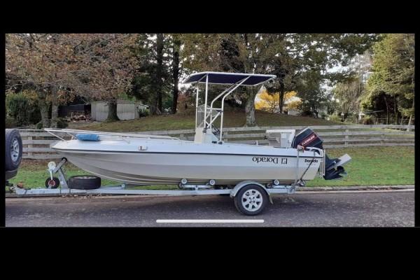 Motor boat dorado sport fish