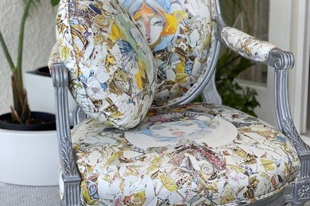 Stylish wing chair