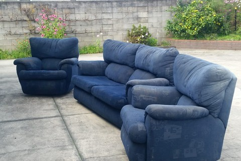 2 recliners and 1, 2 seater couch