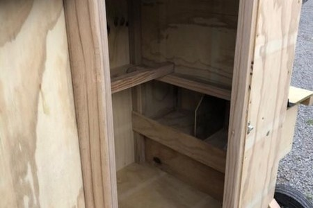 Hen house with Pitched Roof Run, made by stockontheblock