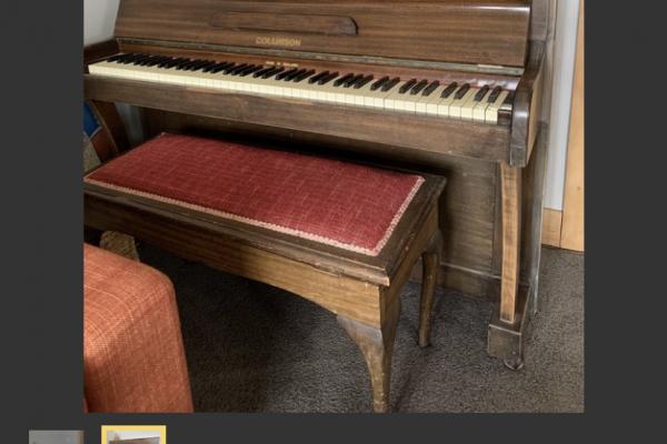 Moderate size Collinson upright piano
