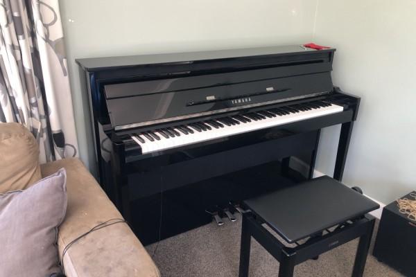 Yamaha digital hybrid upright piano