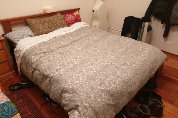 Double bed, Desk, Armchair