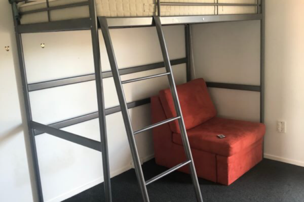 Single mattress, Loft bed frame, steel