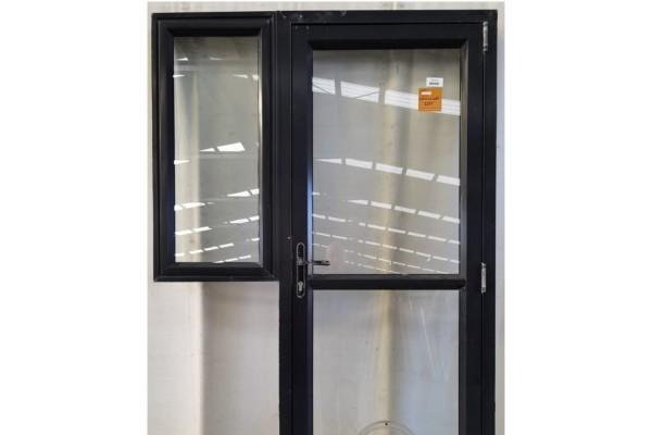 Aluminium and glass door