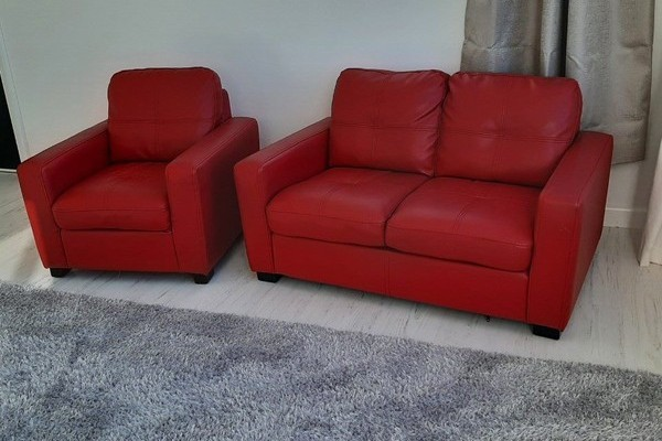 Children's miniature Sized Red 2seater Couch, Children's miniature Siz...