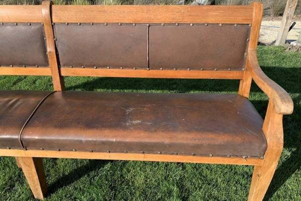 19th Century Solid Kauri Waiting Room/ Tavern Bench
