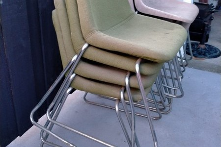 RETRO VINTAGE ROBIN DAY HILLE CHAIRS x 8 MADE IN NEW ZEALAND