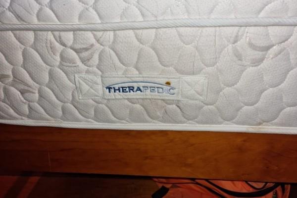 Queen size frame and mattress
